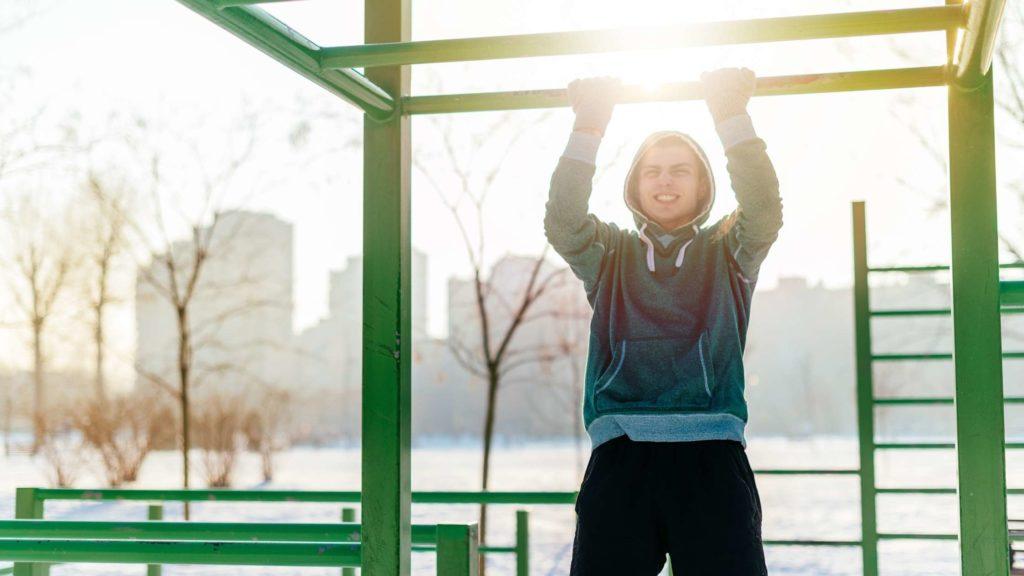 buiten trainen in de winter met personal trainer tilburg